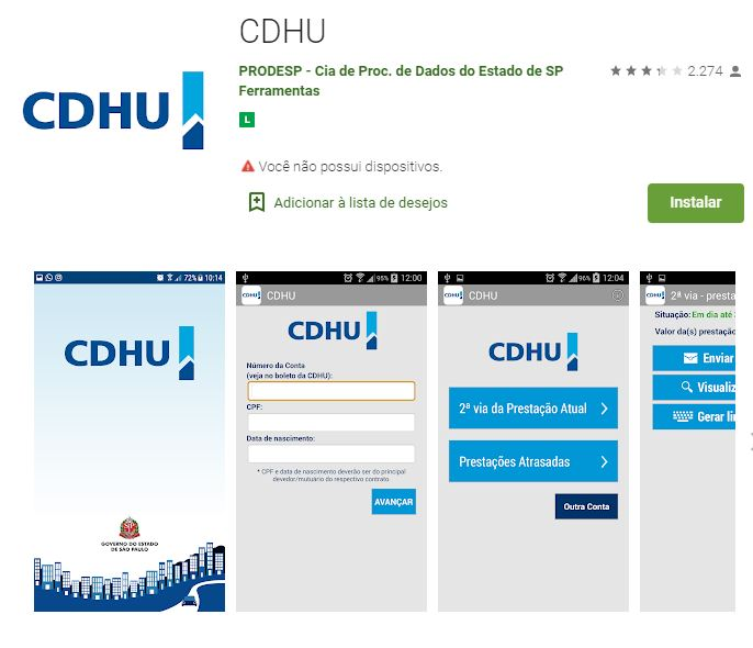 Aplicativo CDHU