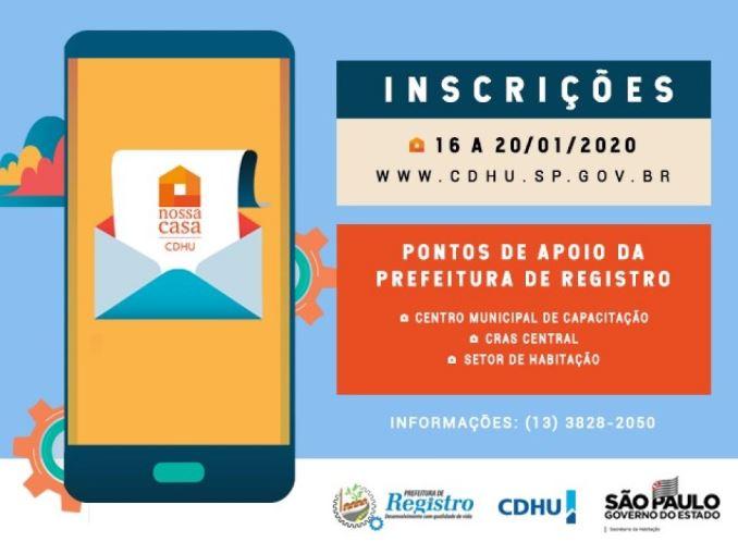 Inscrições CDHU 2021